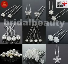 Wedding Bridal Pearl Crystal Flower Diamond Butterfly Hair Pins Grips Clips