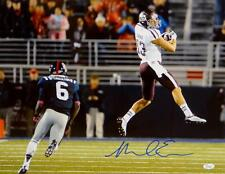 Mike Evans Autographed *Blue Texas A&M 16x20 In Air Against Ole Miss Photo-