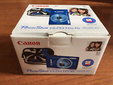 NEW Canon PowerShot ELPH 115 IS / IXUS 132 16.0MP Digital Camera Blue Deluxe kit