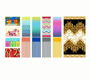 Microfibre Lightweight Beach Pool Swim Towel 70x140cm Bright Colours and Designs