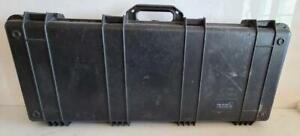 Pelican 1700 Hard Case Shotgun Black Protector Military Grade Wheels Waterproof