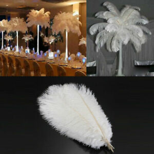 Fluffy Soft White Ostrich Feather 15-45cm Wedding Party Costume Craft Wholesale