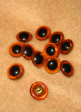 6 sets of Vintage 1/2 inch  Amber Glass Eyes for Teddy Bear and Animals