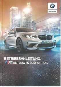 BMW M2 COMPETITION Betriebsanleitung 2019 Bedienungsanleitung Bordbuch F87 BA