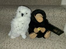 """Harry Potter Hedwig Noble Collection 14"""" Plush Snow Owl and Niffler 12.5"""" Nwt"""