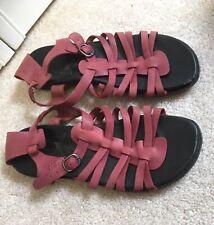 Keen Red Alman Leather Gladiator Flat Sandal Size 9 RU 39.5