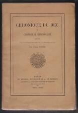 Chronique du Bec et chronique de François Carré par L'Abbé Porée. Méterie 1883