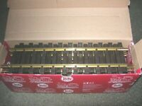 LGB 10000 12 INCH STRAIGHT BRASS TRACK SET OF 12 PIECES NEW IN ORIGINAL BOX!