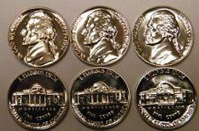 1957-1958-1959 Jefferson Nickel Gem Proof Set Run 3 Coin Run US Mint Lot