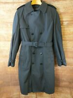 Defender Military Trench Coat 42L Air Force Full Length Navy Blue with Liner