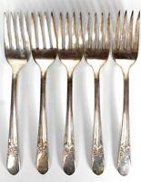 Set of 6 IS Silverplate Wm Rogers Beloved 1940 International Anchor Dessert Fork