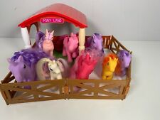 Pony Land My Little Pony Fakie Bundle Of 8 Ponies with Stable