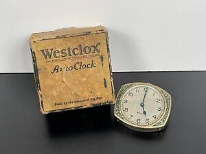 Rare! NOS Antique WESTCLOX AUTO-CLOCK Automobile Dash Clock No.720 WORKS!