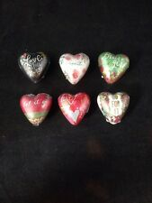 Demdaco Studio Art Hearts Tokens Set of 6