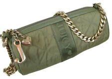 Juicy Couture Roll Purse Baguette Handbag Iguana Quilted Chain Logo FOBs