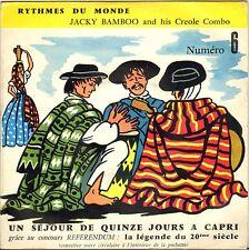 """JACKY BAMBOO CREOLE COMBO """"JAZZ O MAMBO"""" LATIN JAZZ 50'S EP 45 NMPP 6"""