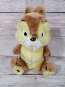 "Vintage Disney Plush Chip Stuffed Animal Chipmunk 9"" Korea"