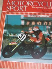Motorcycle Sport 04/81Great Trials Bikes-BSA,Ducati Darmah,Moto Guzzi Spada/V50