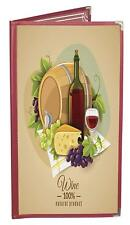 "Menu Covers Burgundy Double-Half-Width-Panels 4-View 4.25""X11"" Double-Stitched"