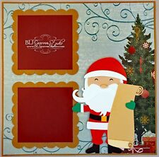 Elite4U Premade Scrapbook Page Paper Piece Santa Christmas List BLJgraves 56