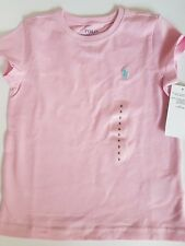 Ralph Lauren Girl`s Cotton-Blend Crewneck T-Shirt Pink  for 4- 5 years old
