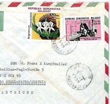 CM226 MADAGASCAR Cover 1990 *SAHAN MARIA* Missionary FILLES CHARITE Cachet MIVA