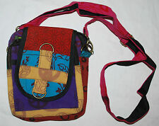 New Fair Trade Cotton Shoulder Bag - Hippy Handbag Hippie Festival Bumbag CND