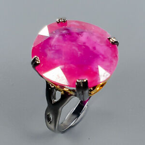 Ruby Ring Silver 925 Sterling Fine Art Jewelry Size 7.5 /R134875