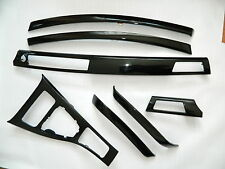 Dekorleisten Interieurleisten Folien schwarz Hochglanz passend für BMW E90 E91