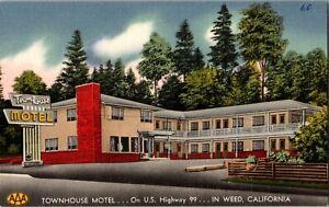 Townhouse Motel US Highway 99 In Weed California Triple AAA Roadside Yellowstone