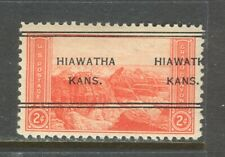 Hiawatha KS 247 DLE precancel on 1934 Two Cent National Park issue