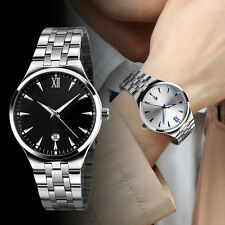 Fashion Men's Date Stainless Steel Waterproof Military Sport Quartz Wrist Gift