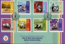Isle of Man IOM 2018 FDC Intl Motor Scooter Rally 8v Cover Motorcycles Stamps