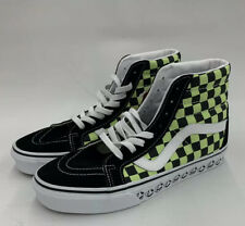 Vans SK8 Hi BMX Checker Board Skateboard Shoe Men 8 Women 9.5 BNWOB Neon Green