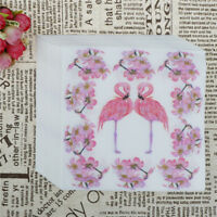 20pcs Flamingo Paper Napkins Party Tissue For Birthday/Wedding Party Decor VYNUK
