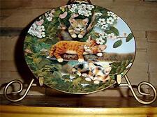 Frisky Felines, Jurgen Scholz, Out On A Limb, Bradford Exchange Kitten Plate