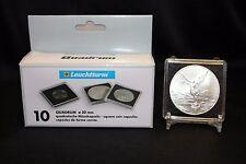 5 Casino Chip Token Challenge Coin 2x2 Snaplock Capsule 41mm QUADRUM