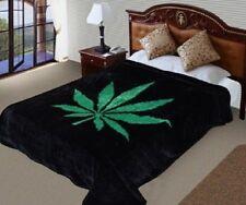Hiyoko Opium Marijuana Leaf Mink Blanket Throw Bedspread Comforter Cover 90x75