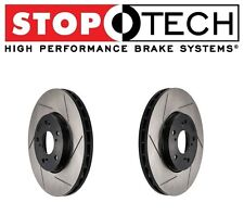 For Honda Civic Acura CSX ILX StopTech Set Pair Front Slotted Brake Rotors