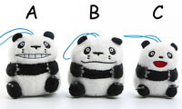 Lovely panda different face stuffed plush bag ornament doll small dolls new