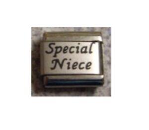 9mm Classic Size Italian Charm L72  Special Niece Fits Classic Size Bracelet