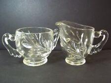Indiana glass vintage sugar bowl & creamer #1008 Willow aka Oleander & Magnolia