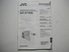 JVC GR-D740E Videocamera Digitale Manuale ITALIANO