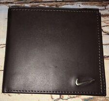 Nike Golf Bifold Genuine Brown Leather Wallet