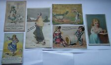 7 USA ANTIQUE VICTORIAN  NOVELTY COMPANY ADVERTISING TRADE CARDS
