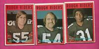 1972 OPC CFL OTTAWA ROUGH RIDERS  CARD LOT  (INV# C4496)