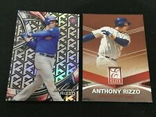 ANTHONY RIZZO TEK 2017 & 2015 ELITE CHICAGO CUBS BASEBALL CARDS