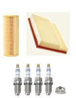 Service Kit For Mercedes C-Class CLK Kompressor Bosch Air Oil Filter Spark Plugs
