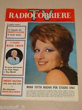 TV RADIOCORRIERE 1965/13=MINA=PAOLO STOPPA=RINA MORELLI=MARIA MONTI=NAZZARI A.=