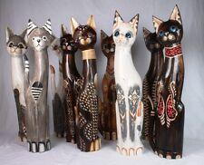 Katze Katzen Holzkatze Deko 60 cm geschnitzt Handarbeit 9 Modelle Tier